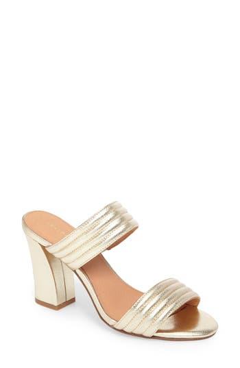 Women's Halogen Della Slide Sandal, Size 5 M - Metallic