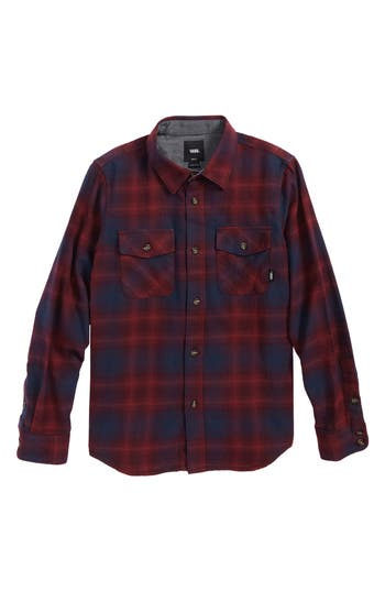 Boys Vans Monterey Ii Plaid Flannel Shirt