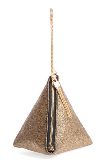 Street Level Triangle Clutch - Metallic