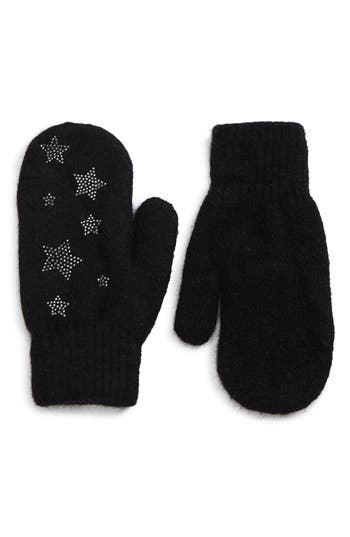 David & Young Sequin Stars Mitten, Size One Size - Black