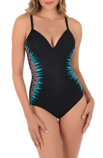 Miraclesuit Casbah Temptation One-Piece Swimsuit, Black