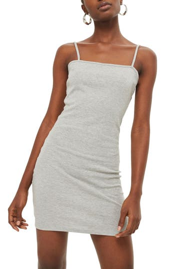 Topshop Jersey Body-Con Minidress, US (fits like 0) - Grey