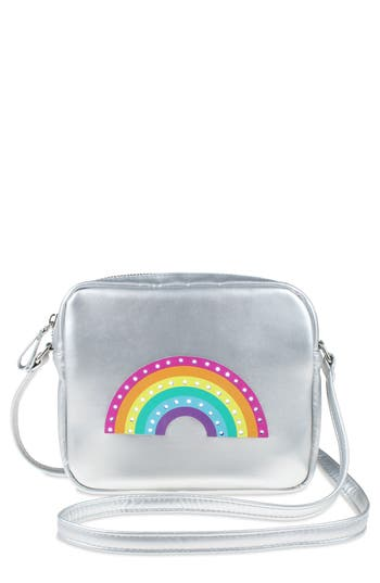 Girls Capelli Led LightUp Rainbow Faux Leather Crossbody Bag