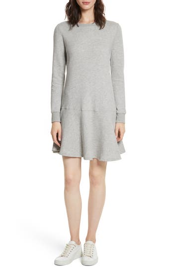 Joie Runna French Terry A-Line Dress, Grey