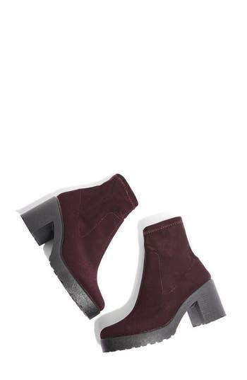 Topshop Brick Knit Sock Bootie - Burgundy
