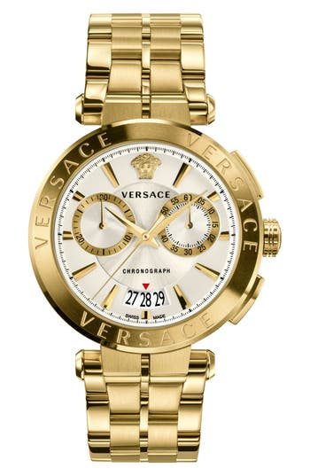 Versace Aion Chronograph Bracelet Watch, 45mm