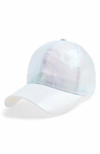 Girl's Cara Iridescent Ball Cap - Blue
