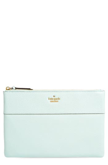 Kate Spade New York Jackson Street Large Mila Leather Pouch - Green at NORDSTROM.com