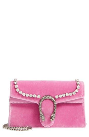 Gucci Gg Super Mini Marmont 2.0 Velvet Clutch - Pink