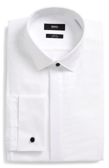 Men's Boss Slim Fit Formal Dress Shirt, Size 15 - White