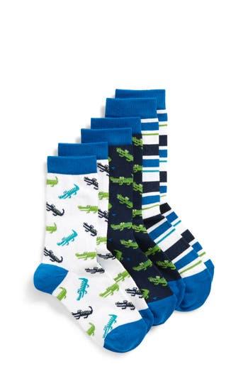 Boys Tucker  Tate 3Pack Critter Crew Socks