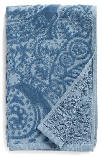 Nordstrom At Home Elisa Turkish Cotton Hand Towel, Size One Size - Blue