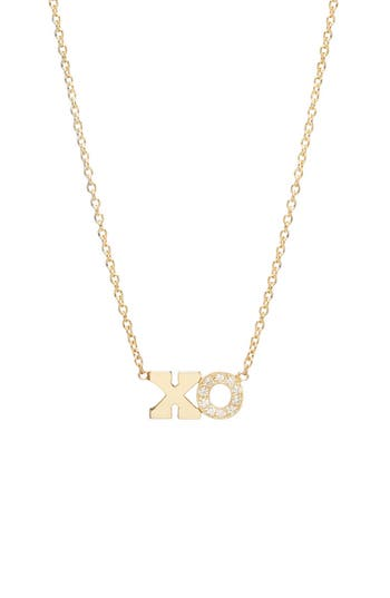 Zoë Chicco Typographical Diamond Pendant