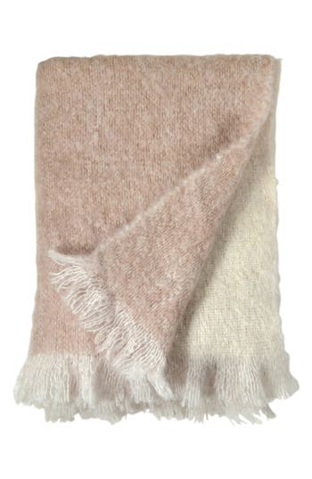 Michael Aram Mohair & Wool Throw, Size One Size - Pink