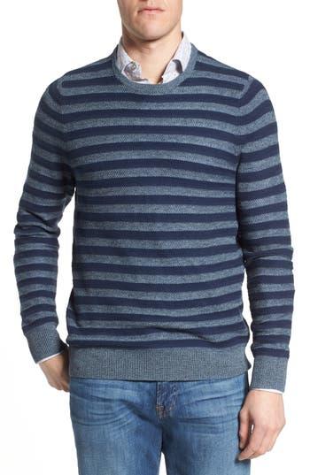 Men's Nordstrom Men's Shop Stripe Sweater, Size Small - Blue