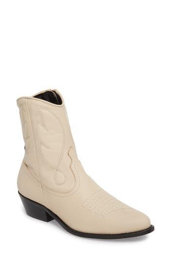 Topshop Arizona Western Boot - Ivory