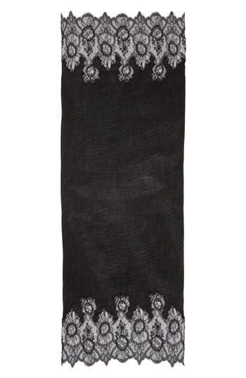 Women's Valentino Garavani Plisse Cashmere & Wool Wrap, Size One Size - Black