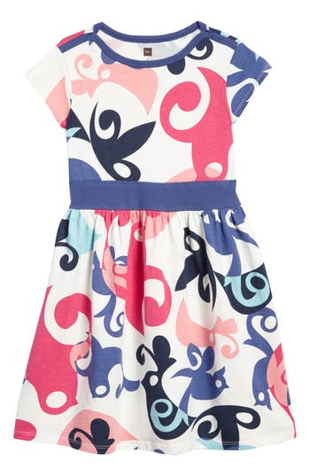 Girl's Tea Collection Tweet Dress, Size 4 - Ivory