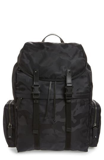 Men's Valentino Camo Backpack - Black