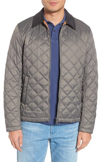 Barbour Helm Quilted Jacket, Grey