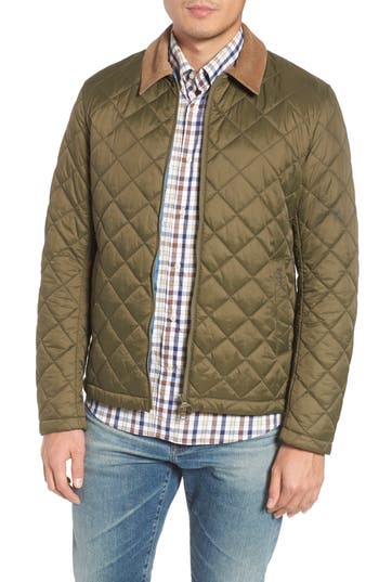 Barbour Helm Quilted Jacket, Green