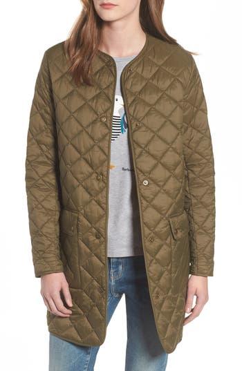 Barbour Skirden Quilted Jacket, US / 14 UK - Green