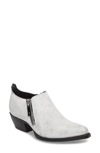 Women's Frye Sacha Double Zip Bootie, Size 11 M - White
