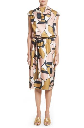 Marc Jacobs Cowl Neck Silk Dress, Pink