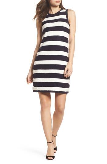 Women's Eliza J Stripe Sweater Dress, Size X-Small - Blue