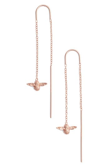 Women's Olivia Burton Bee Chain Thread Through Earrings