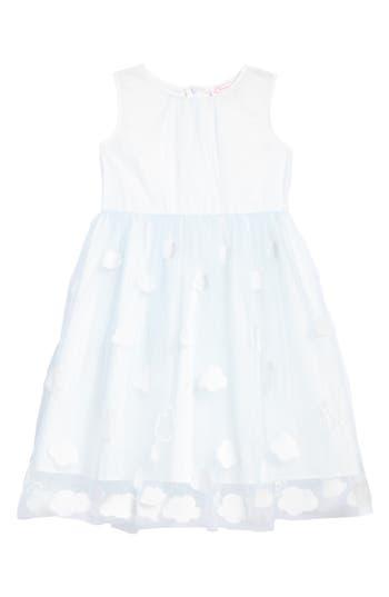 Girl's Popatu Embroidered Cloud Dress, Size 4 - Blue