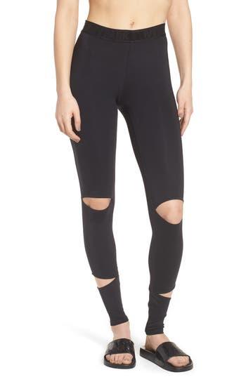 Ivy Park Cutaway Full Length Leggings, Black