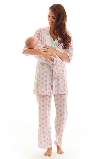 Women's Everly Grey Analise During & After 5-Piece Maternity/nursing Sleep Set