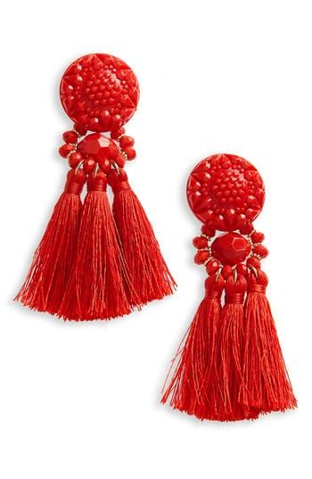 Women's Topshop Beaded Tassel Earrings