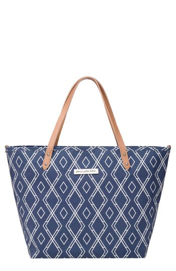 Infant Petunia Pickle Bottom 'Downtown' Canvas Diaper Tote - Blue