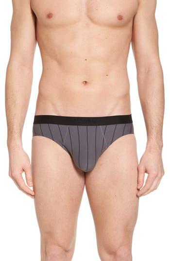 Men's Hanro Shadow Cotton Blend Briefs, Size Medium - Black
