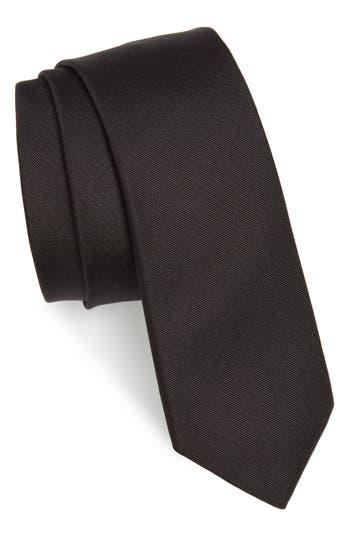 Men's Valentino Silk Tie, Size One Size - Black