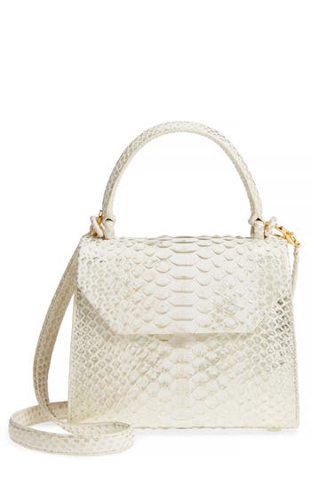 Nancy Gonzalez Mini Lily Genuine Python Crossbody Bag - Metallic