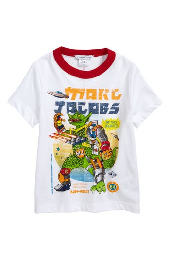 Boy's Little Marc Jacobs Logo Graphic T-Shirt, Size 6 - White