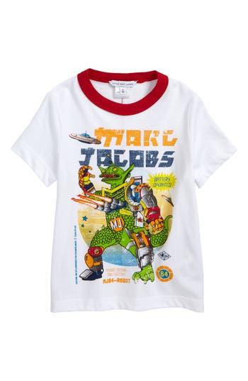 Boy's Little Marc Jacobs Logo Graphic T-Shirt, Size 6 - White