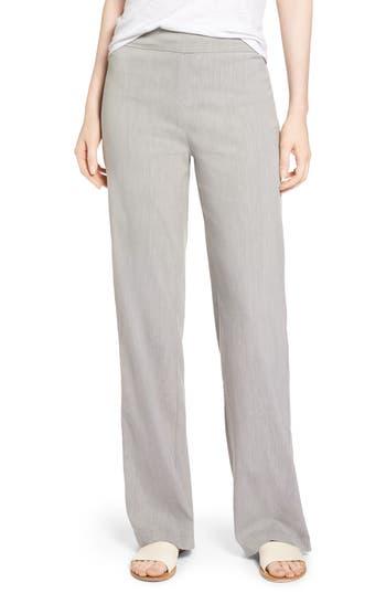 Nic+Zoe Traveling Linen Blend Stretch Pants, Grey