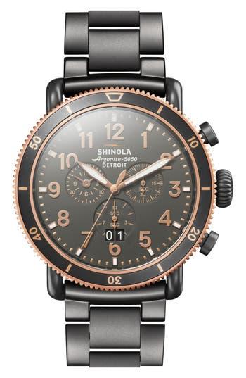 Shinola The Runwell Chronograph Bracelet Watch, 48mm
