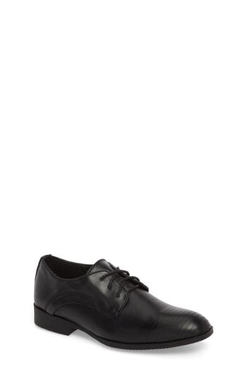 Boys Reaction Kenneth Cole Straight Line Derby Size 7 M  Black