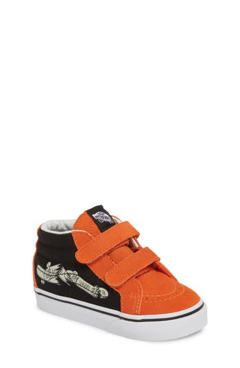 Boy's Vans Sk8-Mid Reissue V Sneaker, Size 4 M - Black