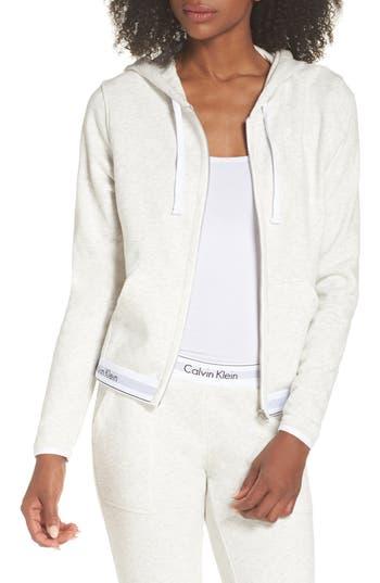 Calvin Klein Zip Hoodie, Grey