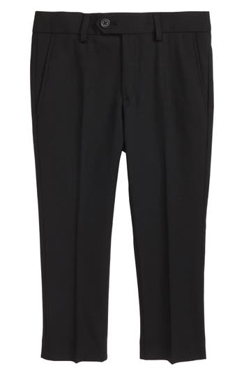 Boys Tallia Solid Wool Blend Flat Front Trousers