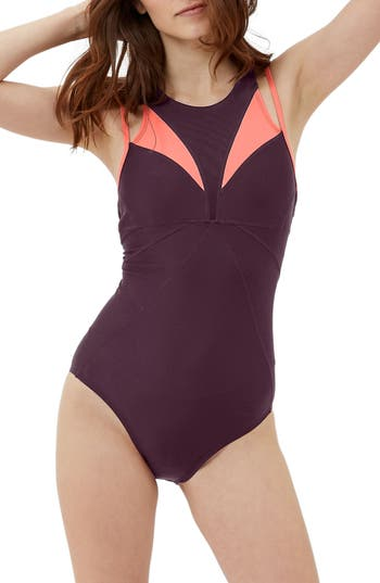 Sweaty Betty Free Dive One-Piece Swimsuit, Red