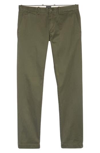 Men's J.crew 484 Slim Fit Stretch Chino Pants, Size 29 x 32 - Green