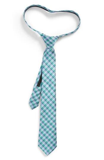 Boys Nordstrom Circus Check Silk Zip Tie