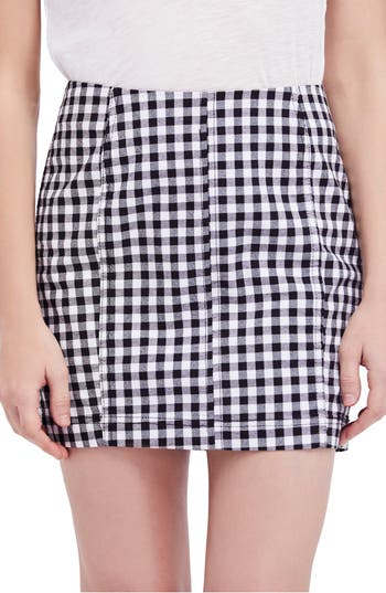 Free People Modern Femme Miniskirt, Black